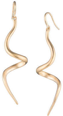 Trina Turk Gold Rush Linear Swirl Earrings