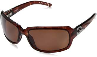 Costa del Mar Women's Isabela IB 10 OCP Polarized Oval Sunglasses, Tortoise