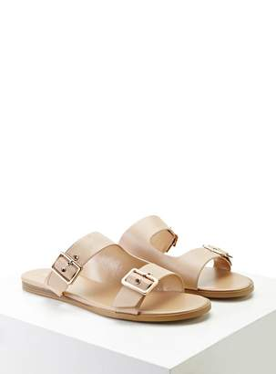 Forever 21 Metallic Buckle Sandals