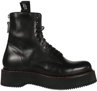 R 13 Leather Lace-up Boots
