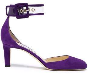 Jimmy Choo Pvc-Trimmed Suede Pumps