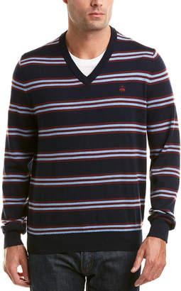Brooks Brothers Lacoste V-Neck Merino Sweater