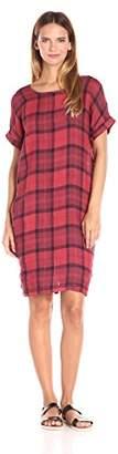 Stateside Women's Chambray Plaid Dress