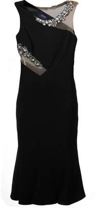 Marchesa jewel embellished fitted dress
