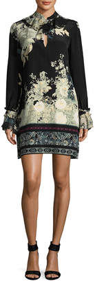 Roberto Cavalli Floral Silk Shift Dress