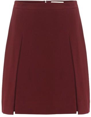 Elie Saab Pleated crepe miniskirt