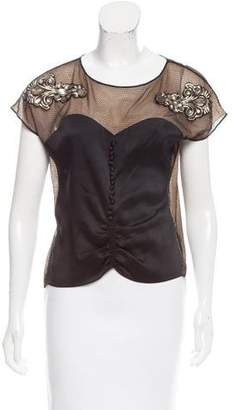 Maison Margiela Embellished Sleeveless Top w/ Tags