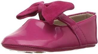 Elephantito Girls' Baby Ballerina with Bow Crib Shoe