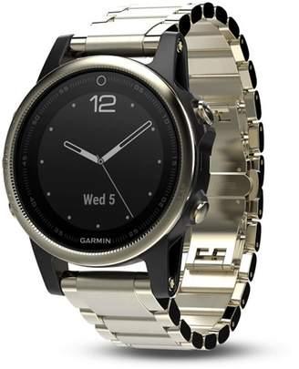 Garmin fenix 5S Sapphire Premium Multisport GPS Smartwatch with Metal Band