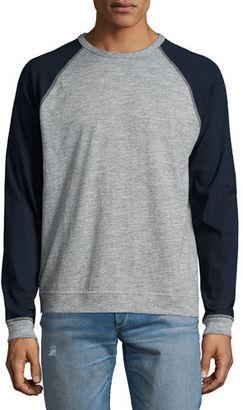 Rag & Bone Standard Issue Colorblock Raglan-Sleeve Baseball Shirt $150 thestylecure.com