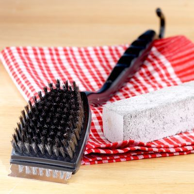 Grill Brush and Pumice Stone