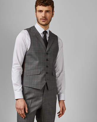 ea568756d62482 Ted Baker BETREW Sterling check wool waistcoat