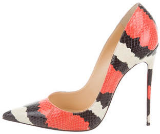 Christian Louboutin  Christian Louboutin Snakeskin So Kate Pumps