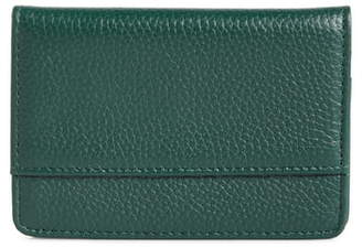Nordstrom Ruby Pebbled Leather Cardholder