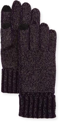 Sofia Cashmere Lurex Knit Touch-Screen Gloves