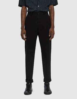 Maison Margiela Soft Brushed Chino Trouser in Black