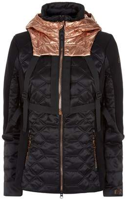 Giorgio Armani Ea7 Detachable Hooded Backpack Jacket