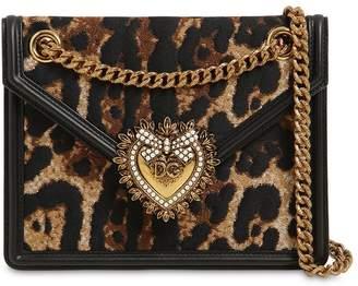 Dolce & Gabbana (ドルチェ & ガッバーナ) - DOLCE & GABBANA DEVOTION レオパードジャカードショルダーバッグ