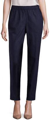 Lafayette 148 New York Women's Finite Italian Flannel Track Pants