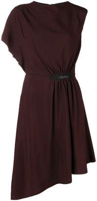 Lanvin crepe asymmetric midi dress