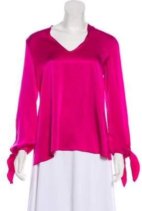 Elizabeth and James Satin Long Sleeve Blouse w/ Tags