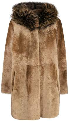 Yves Salomon hooded fur coat