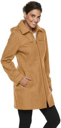 London Fog Tower By Women's TOWER by Zip-Front Wool Blend Jacket