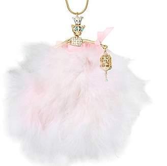 Betsey Johnson Marie Antoinette Mouse Ballerina Long Pendant Necklace