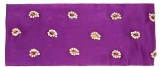 Julia Clancey - Alice Teardrop Crystal Embellished Silk Headband - Womens - Purple