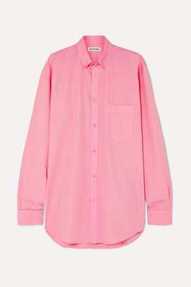 Balenciaga Oversized Printed Cotton Shirt - Pink