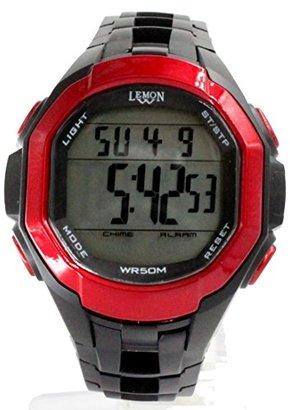 Alexis usdw448 aクロノグラフアラームバックライトレッドベゼルWater Resist Boy Girlデジタル腕時計