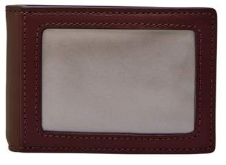 Fossil Tate Rfid Money Clip Bifold Wallet Wine