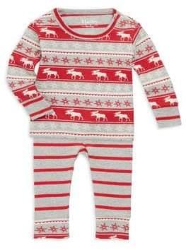 Hatley Baby Boy's Two-Piece Fair Isle Moose Pajama Set