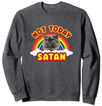 Funny Satan Death Metal Cat Not Today Rainbow Sweatshirt