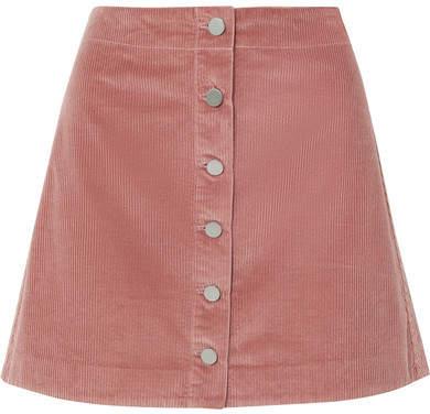 Elizabeth and James - Prewitt Cotton-corduroy Mini Skirt - Pink