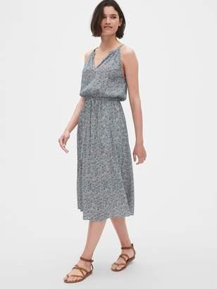 Gap Crinkle Halter Midi Dress