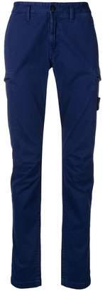Stone Island logo patch skinny trousers