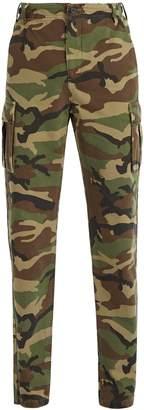 Balenciaga Camouflage cotton-canvas trousers