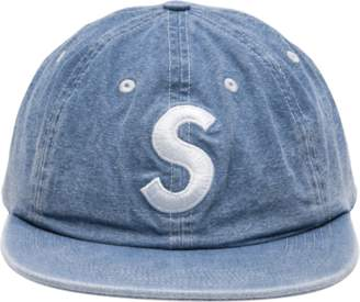 Supreme Washed Chambray S Logo 6 - Panel - 'SS 18' - Blue