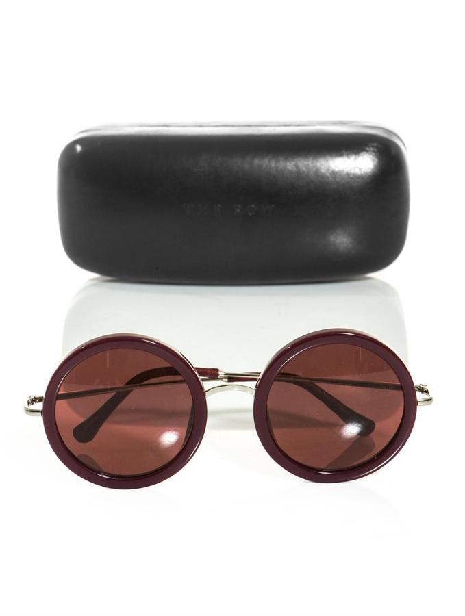 The Row Round-frame acetate sunglasses
