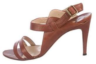 Manolo Blahnik Leather Strap Sandals
