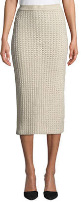 Brock Collection Kew Textured-Knit Pencil Midi Skirt