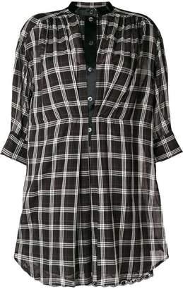 Marc Jacobs plaid mandarin collar shirt dress