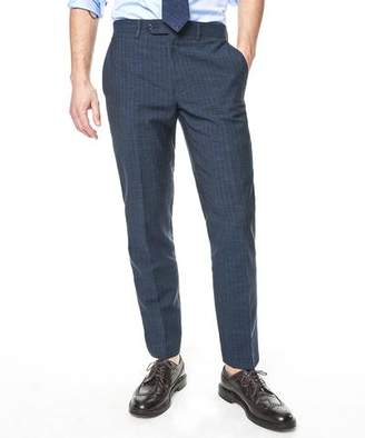 Todd Snyder White Label Sutton Chalk Stripe Linen Suit Trouser In Indigo