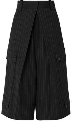 J.W.Anderson Pinstriped Wool-blend Culottes - Black