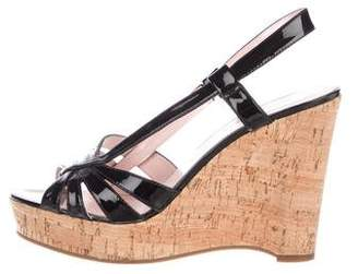 Marc by Marc Jacobs Patent Leather Slingback Wedges