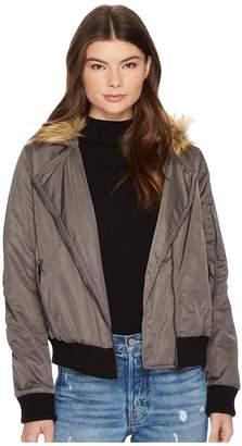 BB Dakota Powell Faux Fur Hooded Jacket Women's Coat