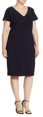Max Mara Plus Decade Crepe V-Neck Dress