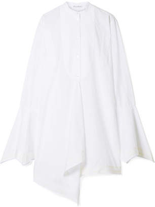 J.W.Anderson Asymmetric Washed Cotton-poplin Top - White