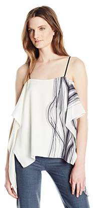 Halston Women's Printed Draped Cami